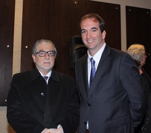 El ex presidente del Banco Central, Roberto Zahler, junto al Presidente de ExpoCarnes, Juan Carlos Domínguez.