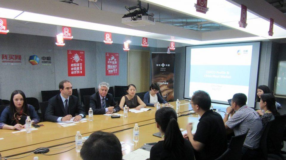 Autoridades chilenas visitan al mayor proveedor agroalimentario en China
