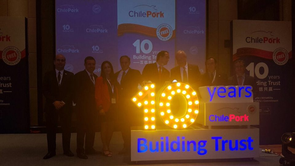 Chilean Pork exporters celebrates 10 years in Asia and the successful promotion of pork in China